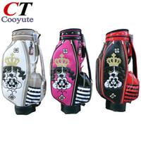 Wholesale golf bags free shipping - Wholesale- Cooyute New WOMEN Golf bag High quality PU Golf clubs bag in choice 8.5 inch M.U Golf Cart bag Free shipping