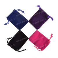 herramienta anti estrés al por mayor-Nueva Velvet Fidget Spinner Drawstrings Bolsas de embalaje Bolsas de joyería Collar Pulsera Pendiente Bolsas de regalo Envío gratis