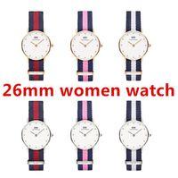Wholesale Famous Women Military - TOP Fashion women Watches Famous Top Brand Luxury Nylon belt Sports Military Quartz Watch lady Wrist Watch Clock relogio female