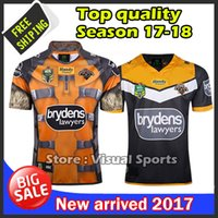 Wholesale Mens Stock - 2017 West Tiger NEW Rugby Jerseys best quality mens rugby shirt in stock free shipping