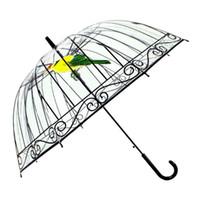 Wholesale Metal Bird Cages - Transparent Umbrella Bird Cage Adult Kid Umbrella EVC Long Handle Umbrella Rain Four Style Free Ship