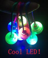 Wholesale Cheap Led Light Up Toys - FUN Hand Fidget Yoyo led finger balls Skill toy Take the box , newst Colorful Hand finger spinner thumb chucks light up cheap EDC