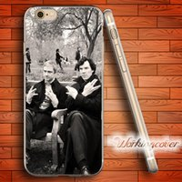 Wholesale Iphone 4s Sherlock - Fundas Sherlock Soft Clear TPU Case for iPhone 7 6 6S Plus 5S SE 5 5C 4S 4 Case Silicone Cover.