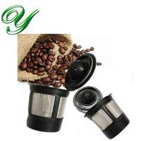 cafeteira de metal venda por atacado-Café cápsulas filtro cestas café inteligente gotejador aço inoxidável permanente reutilizável único café pod recarregável k xícaras coador