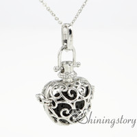 Wholesale Copper Apple - apple metal volcanic stone openwork aromatherapy necklace diffuser pendants wholesale perfume necklace essential oil diffuser jewelry wholes