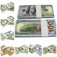 Wholesale DHL USD1 Dollars Fake Paper Money Bank USA Training Collect Learning Banknotes Set