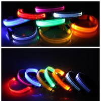 Wholesale Lights For Dog Harness - Colorful LED Pet Collar LED Light-up Flashing Glow In The Dark Flash Night Outdoor Safety For Dog harness All Seasons JF048