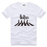beatles großhandel-Die Beatles Abbey Road Metall Rock Mens Männer T-shirt Mode 2017 Kurzarm O Hals Baumwolle T-shirt T-stück Camisetas Hombre
