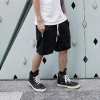 Wholesale mens harem sweats - Fashion Man RO Style Sweat Shorts Summer Mens Capri Cotton Loose Kanye West Fear of God Shorts for Men Justin Bieber