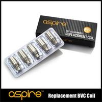 Wholesale Ce5 Coils Ohm - Authentic Aspire BVC Coil Heads Replacement Coils 1.6 1.8 2.1 ohm For aspire CE5 CE5S ET ETS Vivi Nova etc