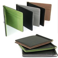 Wholesale Magic Purses - Wholesale- New Arrival Men Magic Skin Wallets Fashion Leather Card $ID Holder Sollid Thin Wallet Purse Travel Case