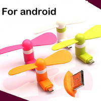 Wholesale Mini Folding Usb Fan - Portable Mini Micro USB Fan by Smartphone Cell Phone Power Mobile Phone Fan Cool Cooler For Android small Fold Hand Fan