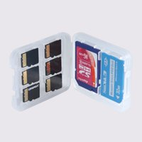 Wholesale Sdhc Memory Card Plastic Cases - multifunction Plastic Case box Memory Card Holder white box Storage Case for TF micro SD card SD SDHC SDXC MMC MSPD MS