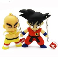 venta al por mayor de la impulsión del flash del usb 16gb al por mayor-Cute Cartoon Goku Kuririn regalos pen drive 8GB 16GB 32GB Dragon Ball Usb Flash Drive Pendrive memory stick USB creativo Venta al por mayor