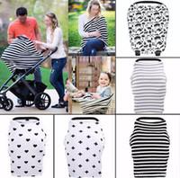 ingrosso breastfeeding scarf-30styles Baby Car Seat Canopy Cover Allattamento al seno sciarpa allattamento Coprire Up Apron Shoping Cart Passeggino Infantile Sleep Buggy Canopy