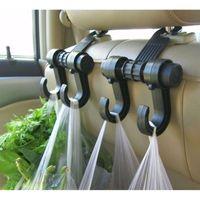 Wholesale Double Vehicle Hangers - Universal Car Truck Suv Seat Back Hanger Organizer Hook Headrest Holder Double Vehicle Hangers,Car Seat Hook