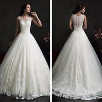 Wholesale Wedding Dresses Short Veil - Free shipping New Fashionable High Quality Lace Princess Wedding dresses 2017 Sexy Luxury Wedding Gowns Free Veil