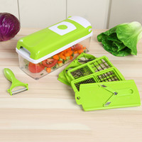Barato Cortadores De Fatias De Vegetais-12 PCS / Set Nicer Dicer Plus Vegetal Fruit Multi Grater Peeler Cutter Chopper Slicers One Step Precision Cutting Cozinha Ferramentas de cozinha LZ15