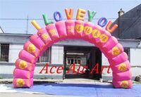 Arch 7mL X4m H Or Custom CE/UL Round Pink Inflatable Valentine Arch Wedding  Decoration