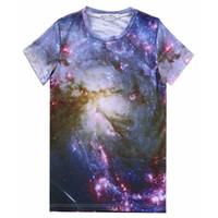 Wholesale Galaxy Stars Shirt - tshirt Stars galaxy t shirt men women casual short sleeve 3d print t-shirt Milky Way tshirt tops tees A66