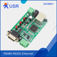 Wholesale Tcp Serial Converter - Wholesale- Q030 USR-TCP232-410S-PCBA Serial RS232 to Lan Server RS485 to RJ45 Etherent  TCP IP Converter Modbus with DHCP and DNS