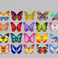 Wholesale Cheap Cupcake Cakes - Small Butterfly Slices Edible Glutinous Rice Paper Cupcake Topper Party Wedding Birthday Cake Decor Cheap And Exquisite 5yz F R