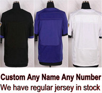 Wholesale Football Baltimore - Custom Baltimore Football Jersey Any Name CJ Mosley Joe Flacco Tucker Justin Weddle Eric Suggs Black Purple White Shirt Men Skating Dresses