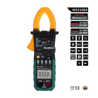 Wholesale Multimeter Capacitor - Freeshipping Digital Multimeter Amper Clamp Meter Current Clamp Pincers AC DC Current Voltage Capacitor Resistance Tester
