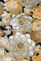 Wholesale Large White Paper Flowers - 32pcs set Large Handmade Cardboard Paper Mix Styles & Colors Flowers Showcase Wedding Backdrop Background Decoration Stage Props Deco 1.96M2