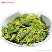çiğ yeşil toptan satış-Tercih 250g Çin Organik Yeşil Çay Erken Bahar Dragon Şey Fragance Ham Çay Sağlık Yeni Bahar Çay Yeşil Gıda