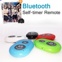 Wholesale Iphone Camera Remote Shutter - Phone Bluetooth Self-timer Remotes Remote Camera Shutter Wireless Controller Take Photo Shutter For IOS Android iPhone Samsung Sony