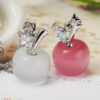 Wholesale Crystal Apple Necklace - Top Quality Christmas Apple Crystal Pendant Necklace Mix 6 color Women Crystal Necklace Jewelry Fit Christmas Gift