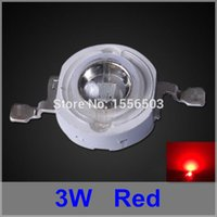 Wholesale 3w chip leds for sale - Group buy 50 LED Chip Beads W Red High Power LEDs Balls Red Grow Light Source LED Emitting Lamp Diode