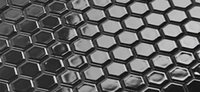 Blacks black hexagon tile - Glossy Black porcelain mosaic tiles Hexagon ceramic sticker Bathroon wall Kitchen backsplash waterproof wall room decor Wall tiles LSHX2302