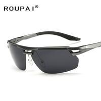 Wholesale glasses for fishing - Wholesale- Brand Classic Polarized Sunglasses Aluminum Frame Leg Men Outdoor Sports Eyewear For Driving Fishing Sun Glasses RP8140