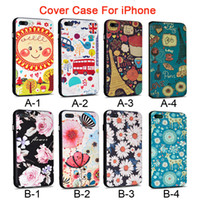 Wholesale Phone cover case with metal button D relief painting TPU PC two in one soft hard package edge protection shell