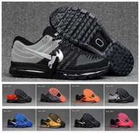 Wholesale Top Selling Mens Boots - Cheap max 2017 Men running shoes Hot selling Top quality maxes 2017 KPU 3 cushion sneaker for mens Newest release sneaker 40-47 Free Shippin