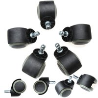Wholesale 5 Heavy Duty Black Brown Plastic Caster mm Spring Swivel Wheels Trolley Furniture Caster Rubber
