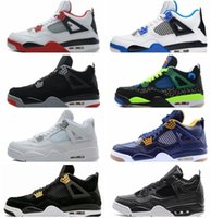 2017 High quality air retro 4 Basketball shoes men Fire Red White Cement CAVS Militar Azul Cimento Grey Black Sneakers Athletics Boots
