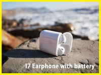 Wholesale Universal Battery White - I7S TWS Twins Earbud Mini Bluetooth Headphones With Battery Wireless Invisible Stereo Headset With Mic For Iphone 8 Mobile Phone