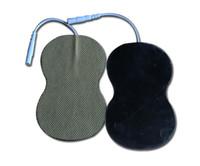 masajeadores al por mayor-Almohadilla reutilizable del Massager del cuerpo de la conexión de alta calidad de 10 pares para los massagers electrónicos del pulso, estimuladores del músculo