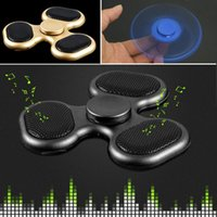 Wholesale Micro Bluetooth Handsfree - Top Bluetooth Audio Fidget Spinners LED Light Hand Spinner Support Micro SD TF Card HandsFree Calls Gyro Toys For Decompression LEDB06