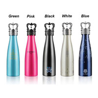 Wholesale Green Flasks - All-joint Amathing Water Bottle Vacuum Flask Cup Sports 304 Stainless Steel Cola Shape Mugs Vacuum Insulation Cups 500ml Wholesale 3002003
