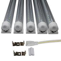 Wholesale Door Dual - 25-Pack, 4FT 5FT 6FT 8FT LED Tube Lights, Dual-sided V-shape Integrated, AC100-277V, SMD2835 Clear Cover White 6000K, LED Cooler Door Lights