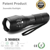 Wholesale Torch High Quality Diving - High Quality LED Flashlight Zoomable 5Modes Torch Xml T6 3800LM Linterna Led Lampe Torche for 18650 Rechargeable or AAA Battery