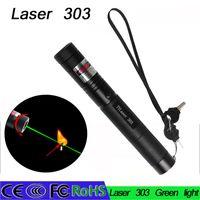 Wholesale Types Led Flashlight Bulbs - Litwod Burning Beam Laser Pointer Lazer Pen 532nm 5mw 303 Green Burning Match+2key led flashlight torch led laser lazer