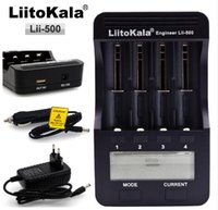 Wholesale Aa Rechargeable Charger Ni Mh - 2017 LiitoKala lii-500 LCD Display 18650 Battery Charger lii500 For 18650 17500 26650 1634014500 AA AAA Ni-MH Rechargeable Battery