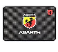 Wholesale emblem abarth - Car Styling Non-Slip Mat Case For Fiat Punto Abarth 500 124 Stilo Ducato Palio Badge Emblems Interior Accessories Car Styling