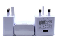 ingrosso adattatore per spina di mele apple-Caricabatterie Tideseer originale UK Versione 3 Pin Plug Ricarica rapida Adattatore da viaggio 5V 2A Marchio di sicurezza per Nota 5 100 pezzi