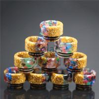 Wholesale Diamond Tipped - Diamond Gold TFV8 TFV12 Resin Drip Tip Colorful E Cig Tips for TFV8 Big Baby Beautiful Design